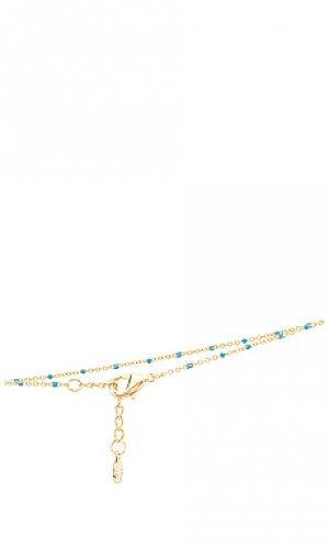 Ножной браслет capri gorjana. Цвет: metallic gold,blue