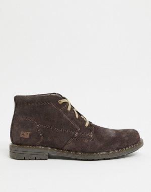 Коричневые ботинки со шнуровкой Caterpillar-Коричневый Cat Footwear