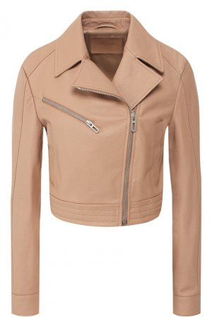 Кожаная куртка DROMe. Цвет: бежевый