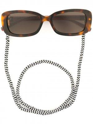 Солнцезащитные очки в оправе черепаховой расцветки M Missoni. Цвет: коричневый