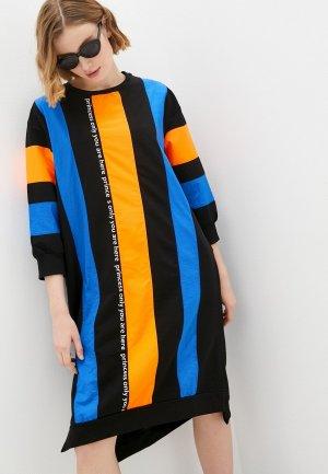 Платье Dali. Цвет: разноцветный