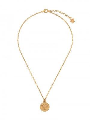 Цепочка с медальоном Medusa Versace. Цвет: золотистый
