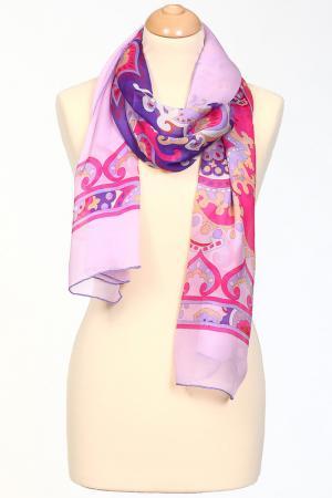 Палантин Leonard. Цвет: мультицвет на нежно-розовом