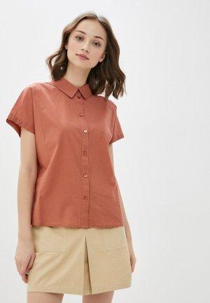 Рубашка Pieces. Цвет: коричневый