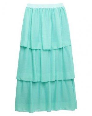 Длинная юбка PLEASE. Цвет: светло-зеленый