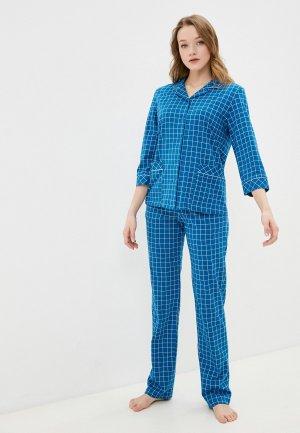 Пижама Оддис. Цвет: голубой