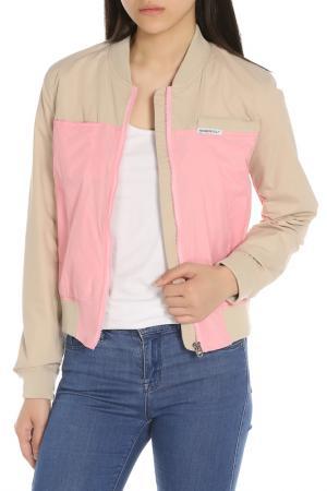 Ветровка MEMBERS ONLY. Цвет: khaki & powder pink