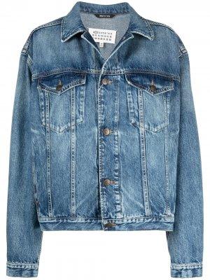 Джинсовая куртка с приспущенными плечами Maison Margiela. Цвет: синий