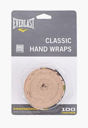 Бинт боксерский Everlast 2.5м Elastic. Цвет: хаки