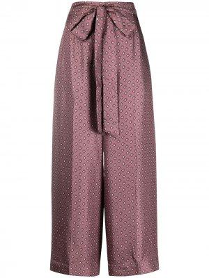 S Max Mara укороченные брюки палаццо 'S. Цвет: фиолетовый
