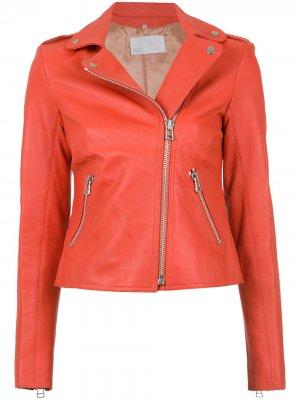 Leather biker jacket Nk. Цвет: красный
