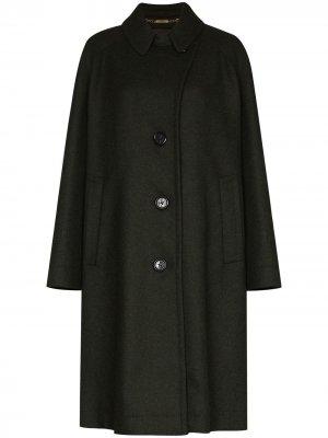 Однобортное пальто миди Marc Jacobs. Цвет: зеленый
