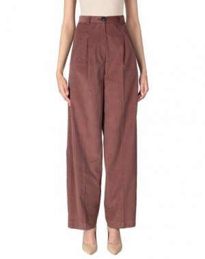 Повседневные брюки I'M ISOLA MARRAS. Цвет: какао