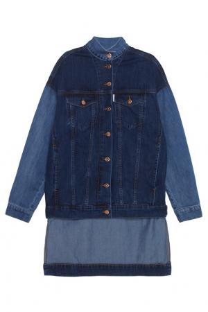 Джинсовая куртка Aalto. Цвет: синий