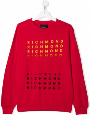 TEEN logo crew-neck sweatshirt John Richmond Junior. Цвет: красный