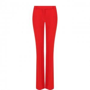 Однотонные расклешенные брюки со стрелками Alexander McQueen. Цвет: красный