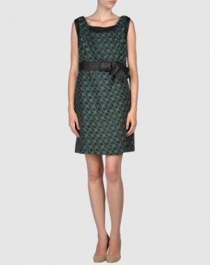 Короткое платье ALICE SAN DIEGO. Цвет: зеленый