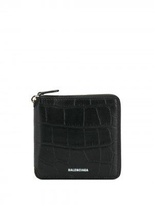 Квадратный кошелек Ville Balenciaga. Цвет: черный