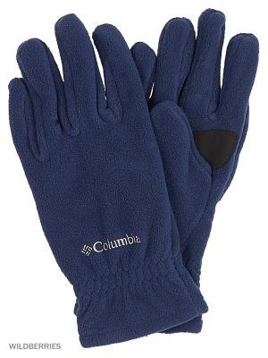 Перчатки Columbia. Цвет: синий