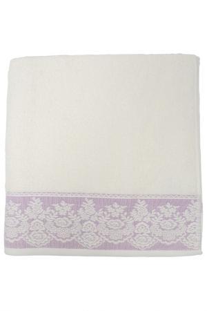 Полотенце махровое, 70х140 см BRIELLE. Цвет: кремовый, пурпурный