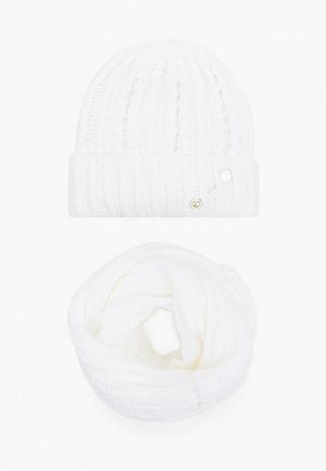 Комплект TrendyAngel шапка и снуд. Цвет: белый