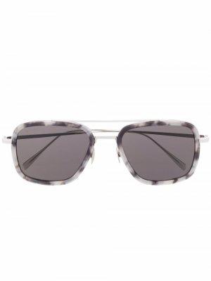Солнцезащитные очки-авиаторы Billionaire. Цвет: золотистый
