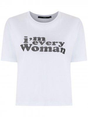 Укороченная блузка Every Woman Eva. Цвет: белый