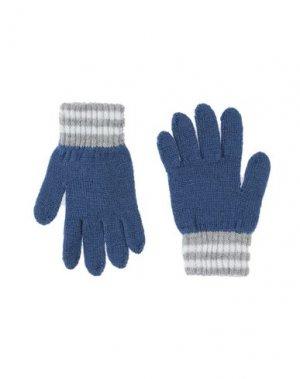 Перчатки DOLCE & GABBANA. Цвет: синий