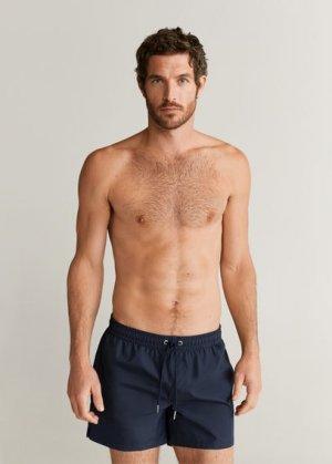 Однотонные плавательные шорты - Liso Mango. Цвет: темно-синий
