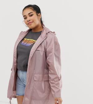 Куртка-дождевик ASOS DESIGN Curve-Розовый Curve