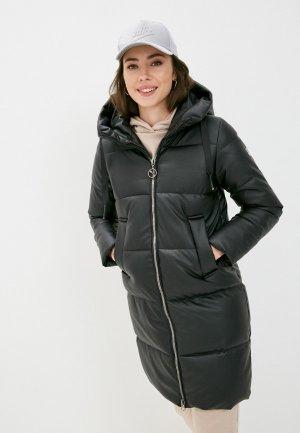 Куртка кожаная Shelter. Цвет: черный