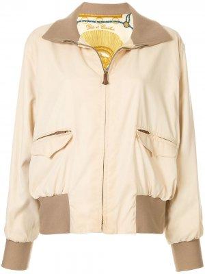 Двухсторонняя куртка на молнии с длинными рукавами pre-owned Hermès. Цвет: нейтральные цвета