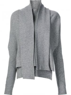 Драпированный свитер с запахом Edun. Цвет: серый