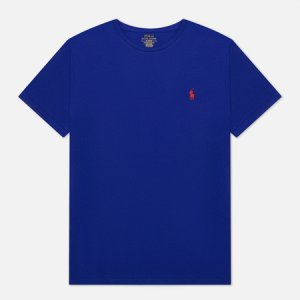Мужская футболка Classic Crew Neck 26/1 Jersey Polo Ralph Lauren. Цвет: синий