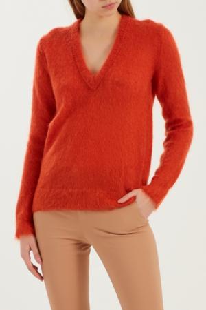 Оранжевый фактурный пуловер Gucci