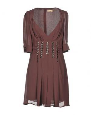 Короткое платье BABYLON. Цвет: баклажанный