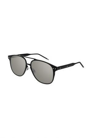Очки солнцезащитные Bottega Veneta. Цвет: 001