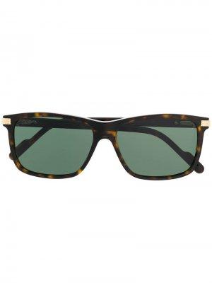 Солнцезащитные очки в оправе черепаховой расцветки Cartier Eyewear. Цвет: черный