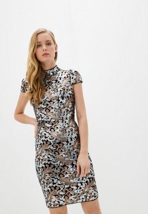 Платье Alice + Olivia. Цвет: серебряный