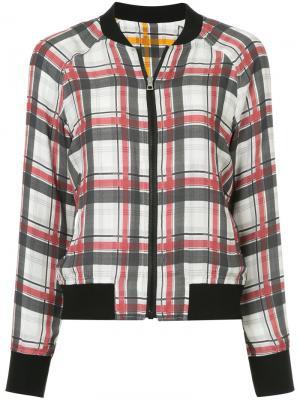 Двухсторонняя куртка-бомбер в клетку Ck Calvin Klein. Цвет: многоцветный