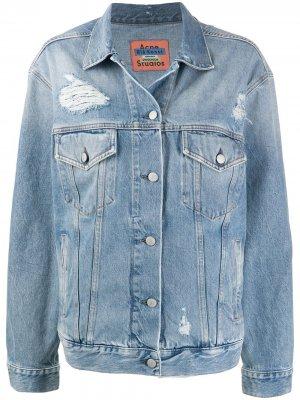 Джинсовая куртка 2000-х годов с нашивками Acne Studios. Цвет: синий