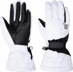 Перчатки женские Force, размер 7 Salomon. Цвет: белый