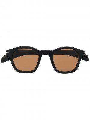 Солнцезащитные очки в квадратной оправе Eyewear by David Beckham. Цвет: черный