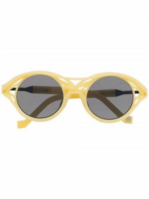 Солнцезащитные очки CL0015 в круглой оправе VAVA Eyewear. Цвет: желтый