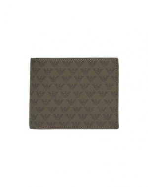 Бумажник EMPORIO ARMANI. Цвет: зеленый-милитари