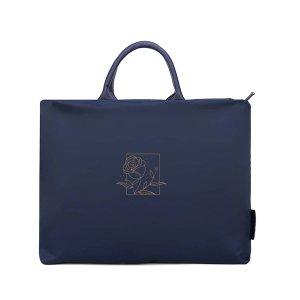 14,4-дюймовая сумка для ноутбука с розовым принтом SHEIN. Цвет: синий