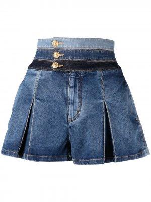 Расклешенные джинсовые шорты Dsquared2. Цвет: синий