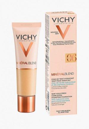 Тональная основа Vichy MINERALBLEND увлажняющая, 16 часов стойкости и сияния кожи, тон 06, 30 мл. Цвет: бежевый