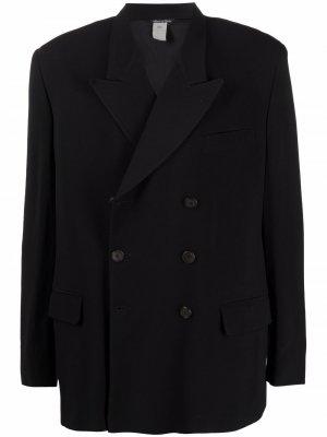 Двубортный пиджак 1980-х годов с заостренными лацканами Jean Paul Gaultier Pre-Owned. Цвет: черный