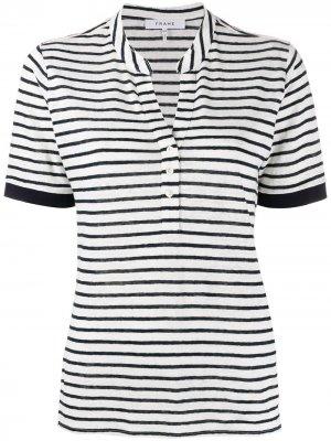 Рубашка-поло в полоску FRAME. Цвет: белый